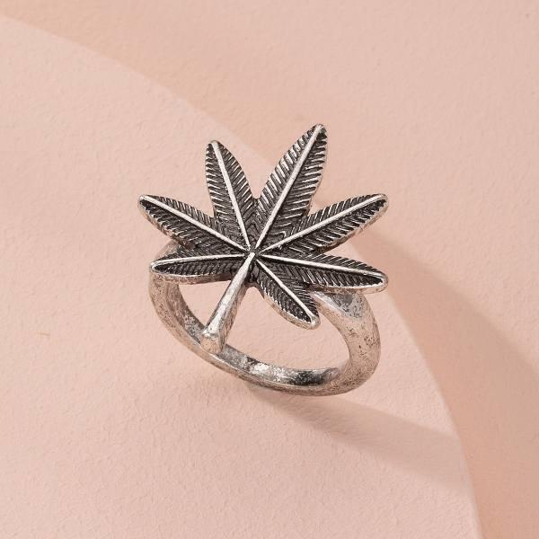 Купить Кольцо с декором кленового листа от SHEIN цвет ...