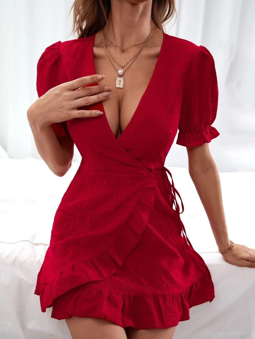 Nó Simples sexy Vestido