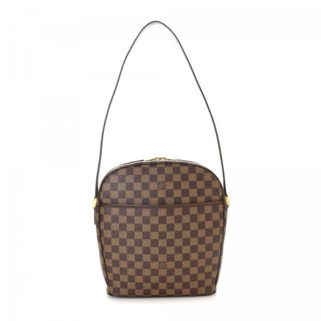 Louis Vuitton Ipanema GM Damier Ebene Brown Coated Canvas Shoulder Bag