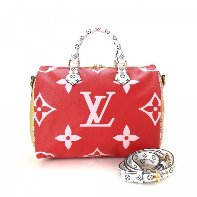 Louis Vuitton Limited Edition Monogram Geant Speedy 30 Monogram Multi color Coated Canvas  Handbag