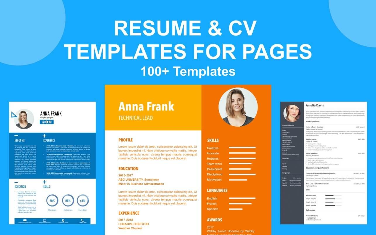 Best resume template for word & pages online, one, two, three page resume template, professional resume with free cover letter, instant resume download cv. Cv Resume Templates For Pages 1 2 Download Free Macos Appked