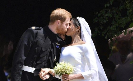 Prince Harry and Megan Merkel kiss after their wedding ceremony (Photo: Ben Stansall, ap)
