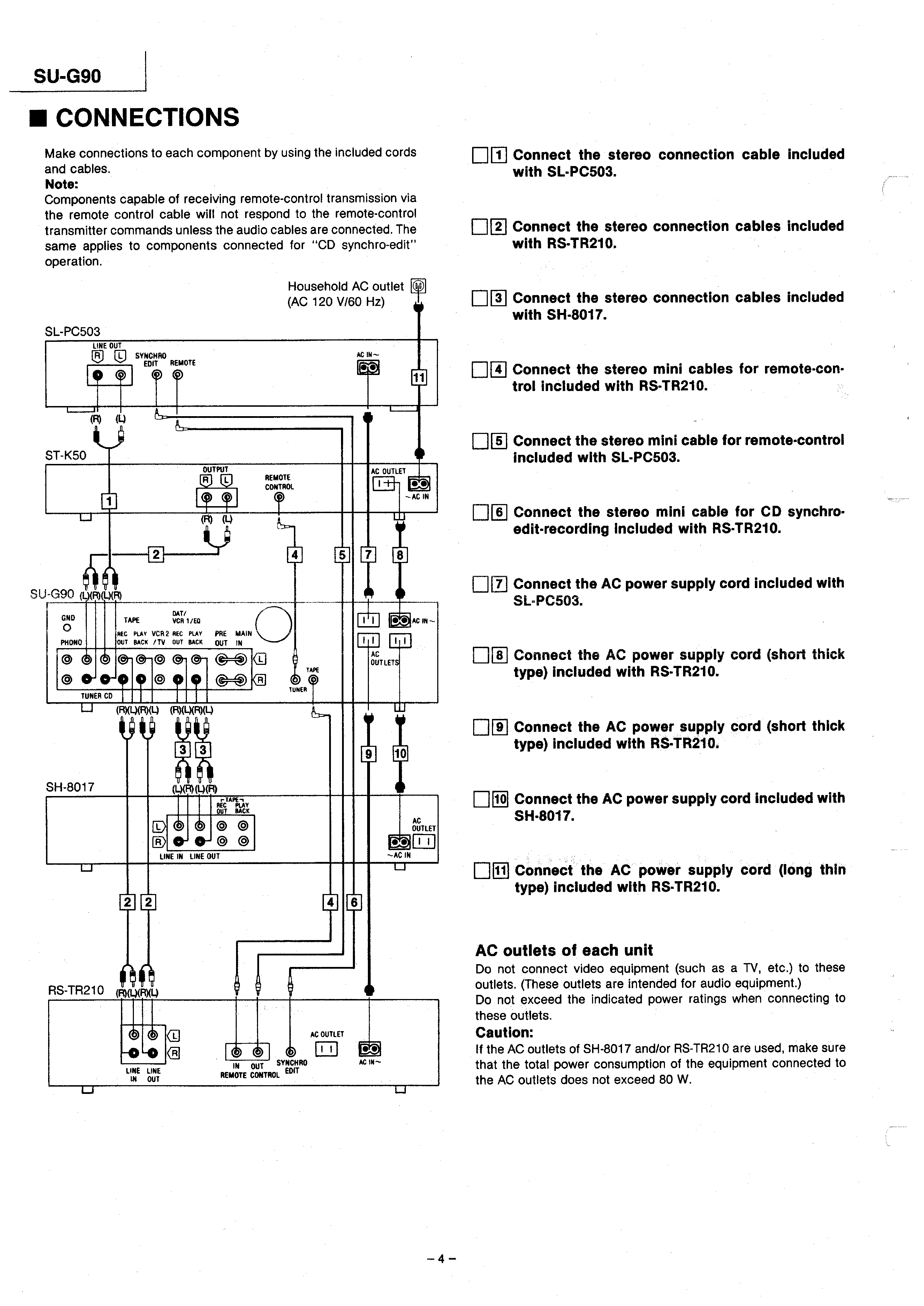 Technics Home Stereo Wiring Diagram