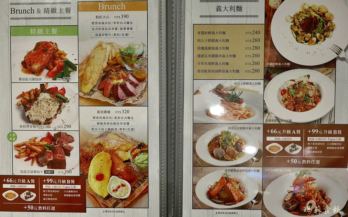 台中北區美食,跳舞香水,跳舞香水輕食料理,中友午茶,中友美食,中友義大利麵,跳舞香水菜單