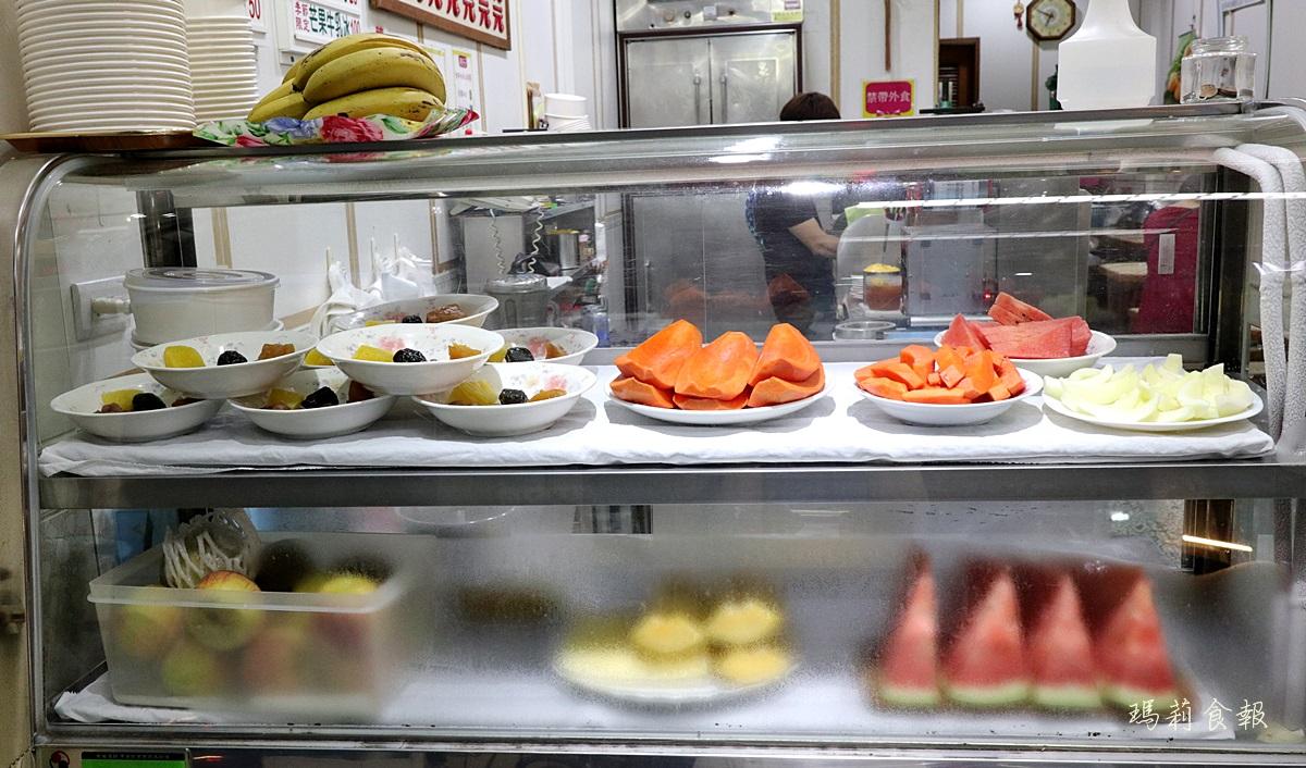 龍川冰菓室,龍川冰菓室菜單,台中冰品,台中老冰店,台中冰店,台中冰果室,木瓜牛奶,中華路夜市美食