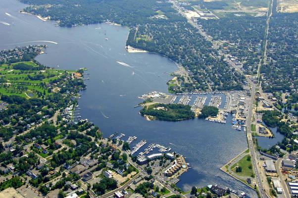 Toms River Harbor In River Bank NJ United States