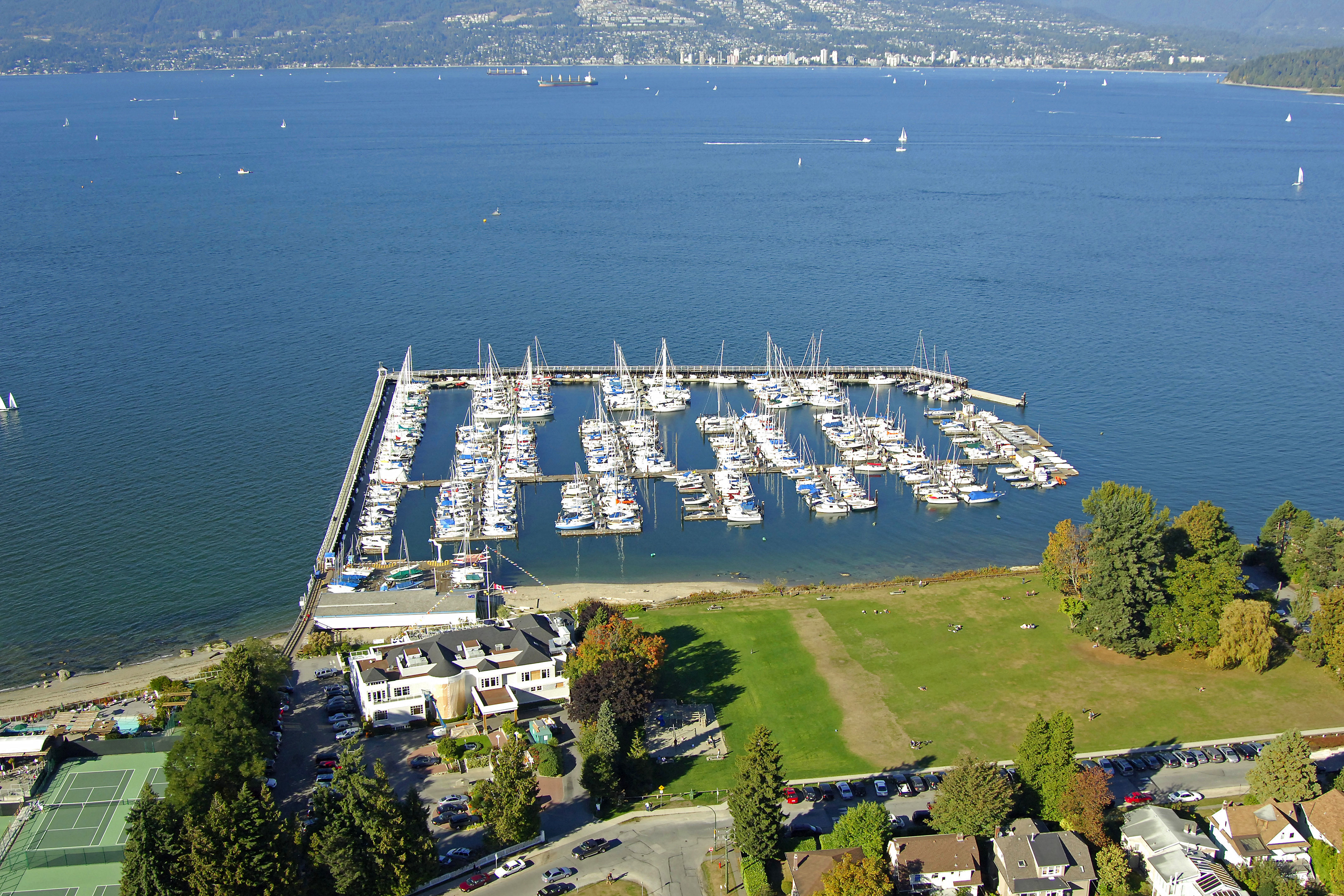 Royal Vancouver Yacht Club Jericho In BC Canada Marina