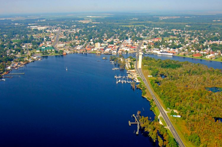 Elizabeth City Harbor in Elizabeth City, NC, United States ...