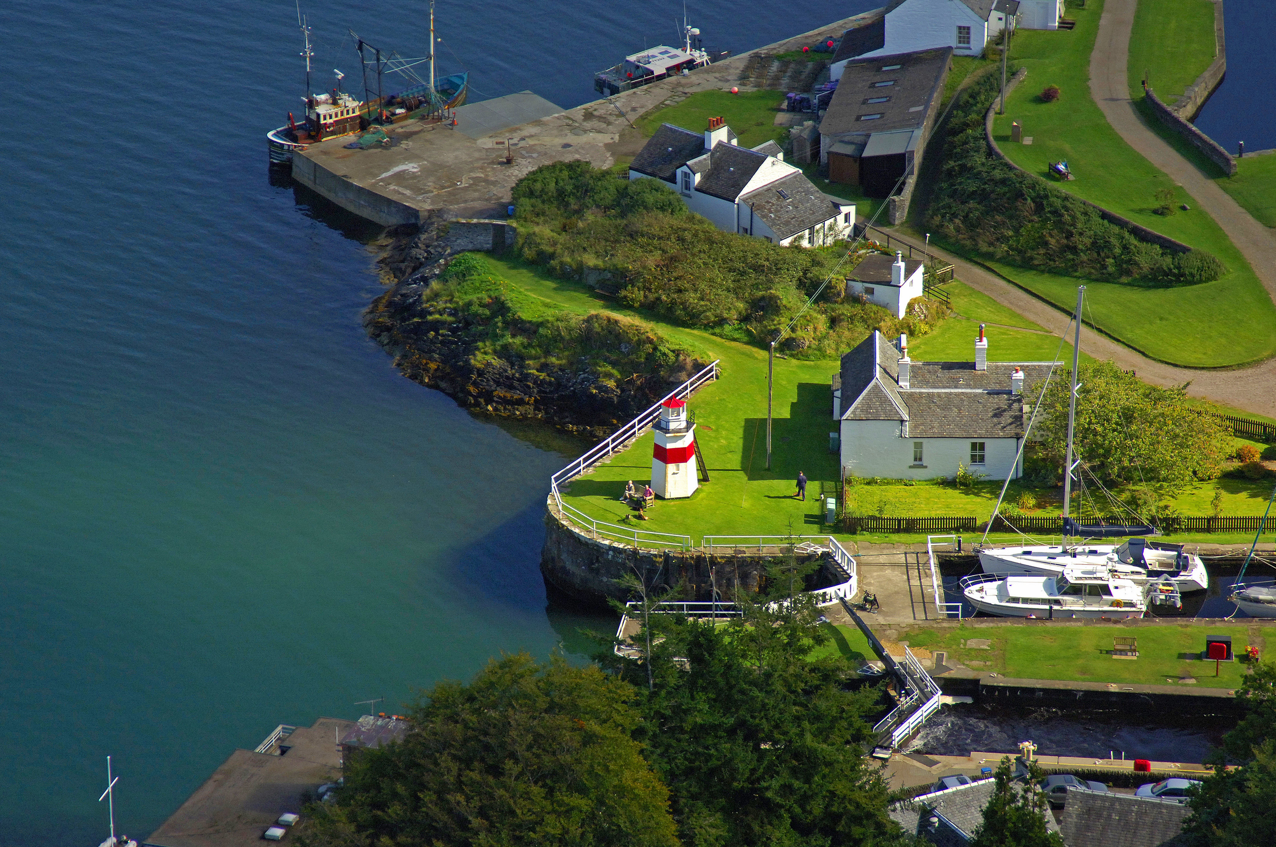 Crinan Canal Lighthouse In Lochgilphead SC United