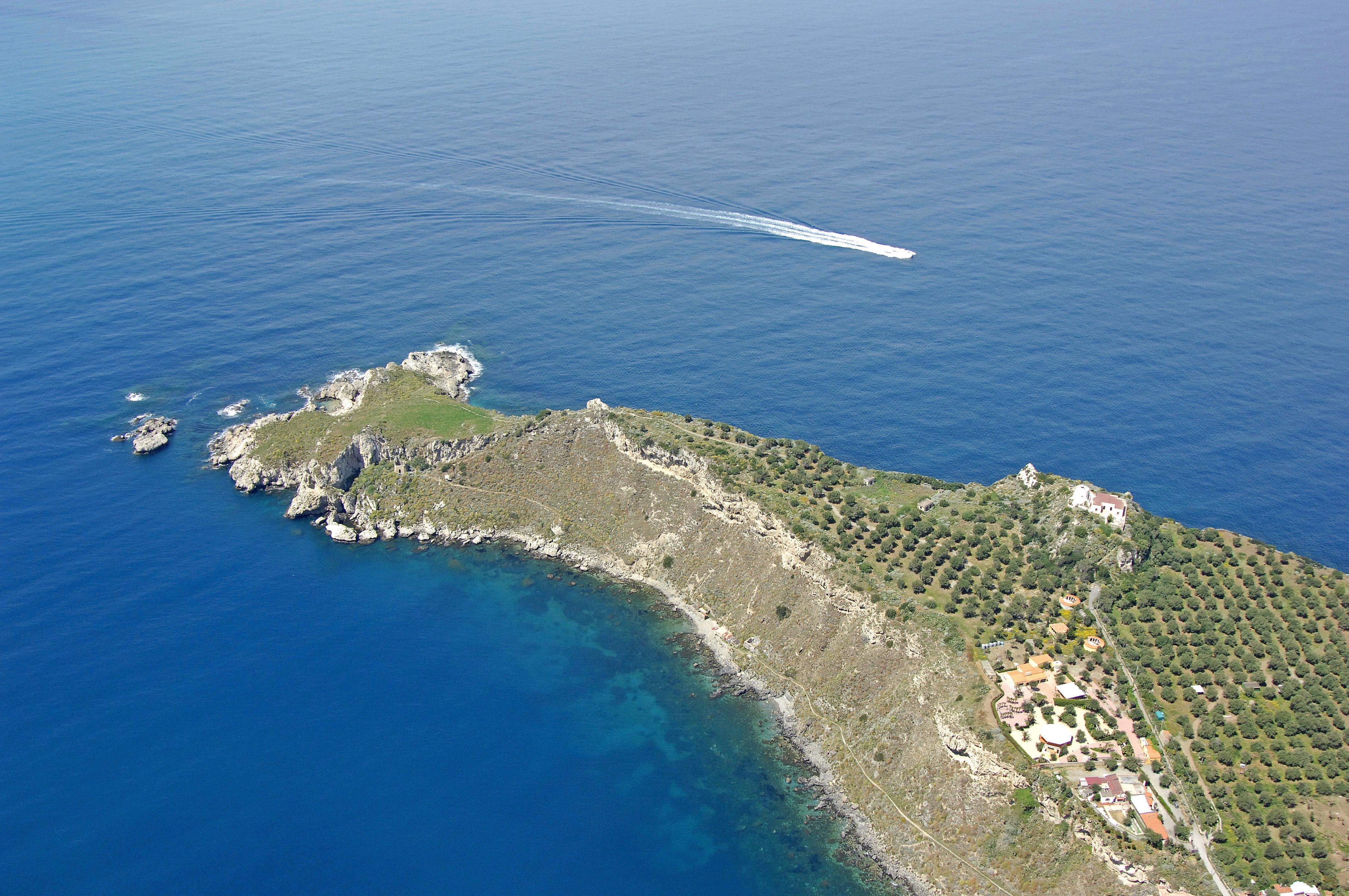 Capo Milazzo Light Lighthouse In Milazzo Sicily Italy