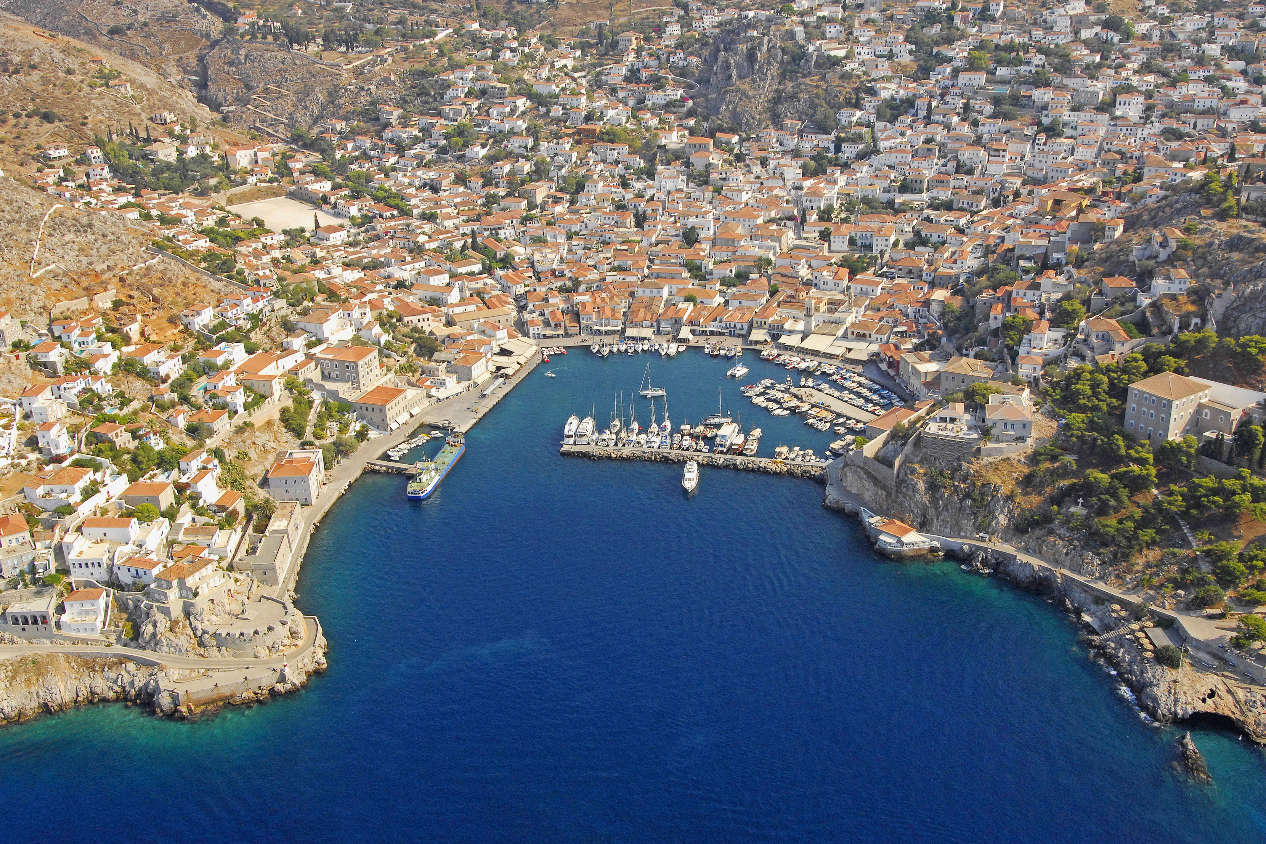 Hydra Harbour In Hydra Greece Marina Reviews Phone