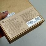 bagian belakang kemasan Xiaomi Mi Pad