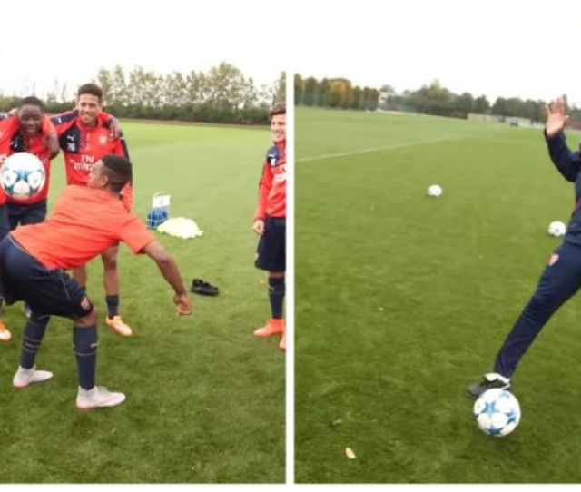 Arsenal Youngsters Show Off Their Skills Taught By Thierry Henry Video