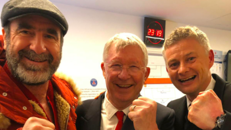 """""""if ever there was one player, anywhere in the word, that was made for manchester united, it was cantona,"""" said ferguson later. Alex Ferguson, Cantona and Solskjær take selfie after ..."""