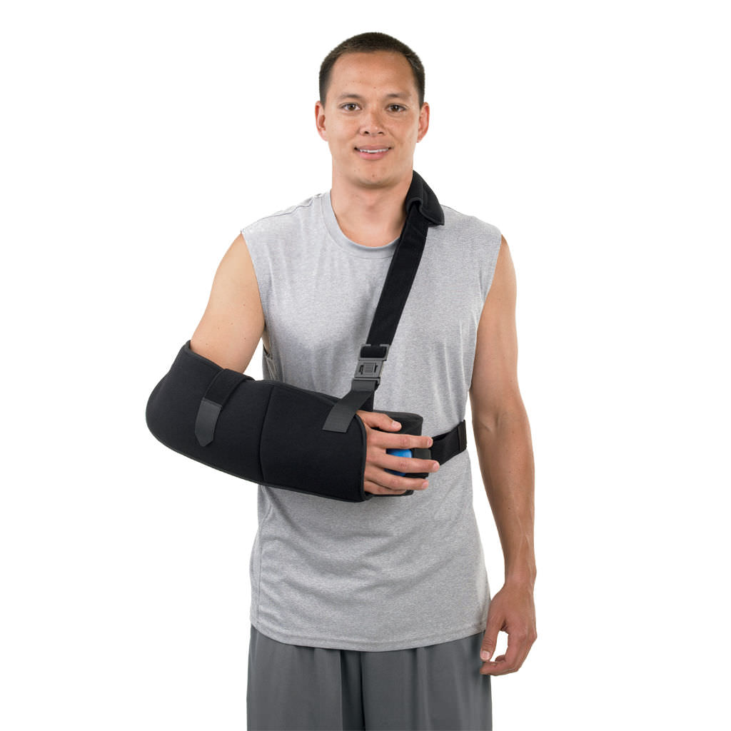 arm sling with shoulder abduction