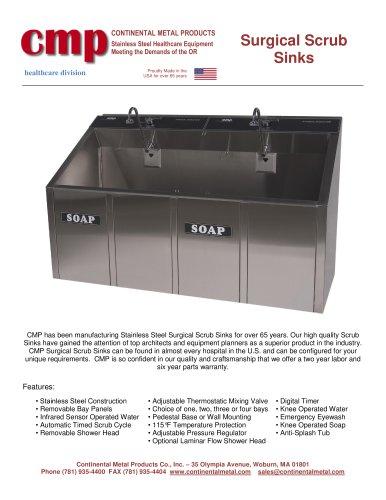 surgical scrub sinks continental