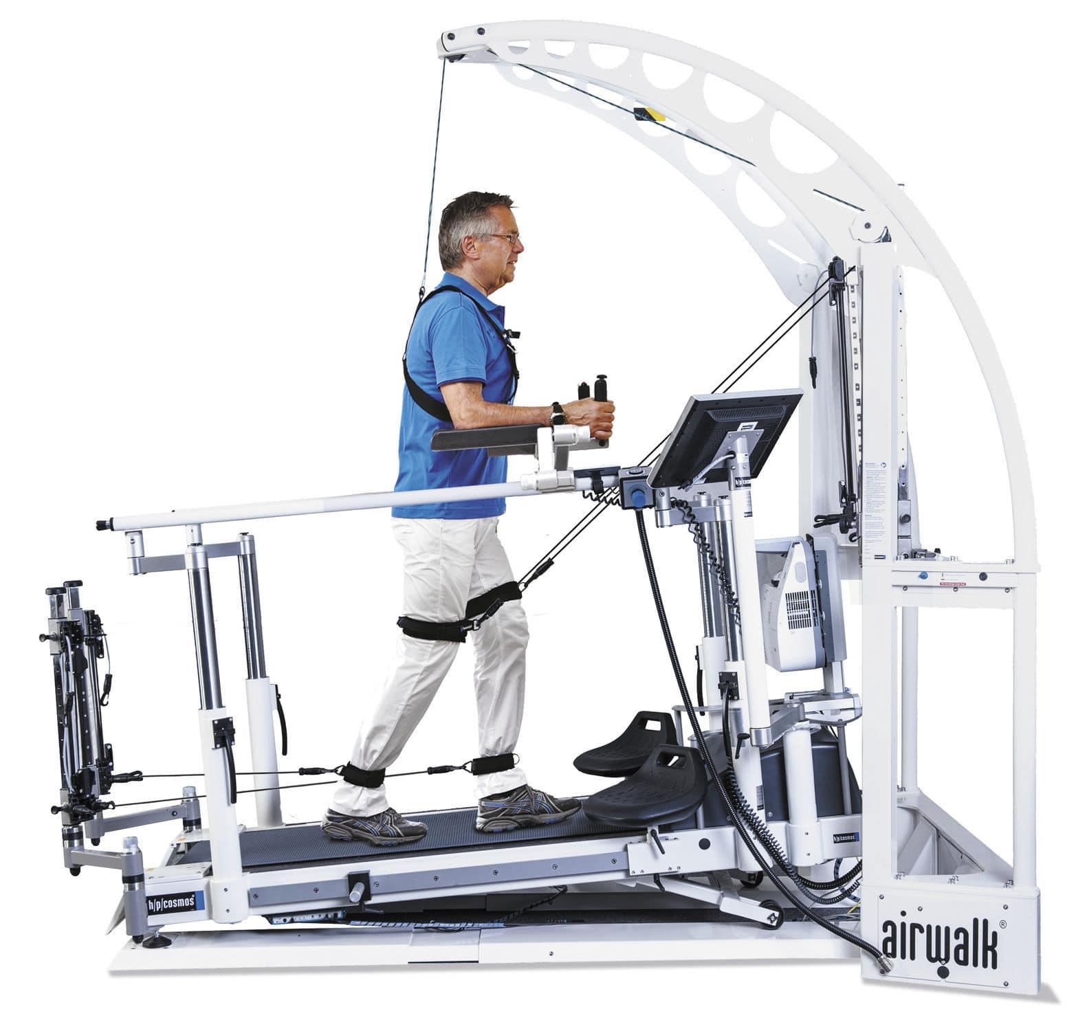 Esteira elétrica com suporte parcial de peso corporal - Locomotion® - h/p/cosmos sports & medical - com corrimão