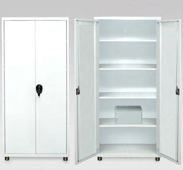 armoire de medicaments d hopital 2 portes fixe