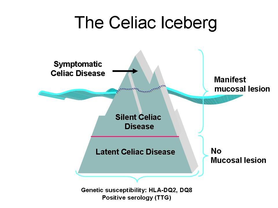 The celiac iceberg.