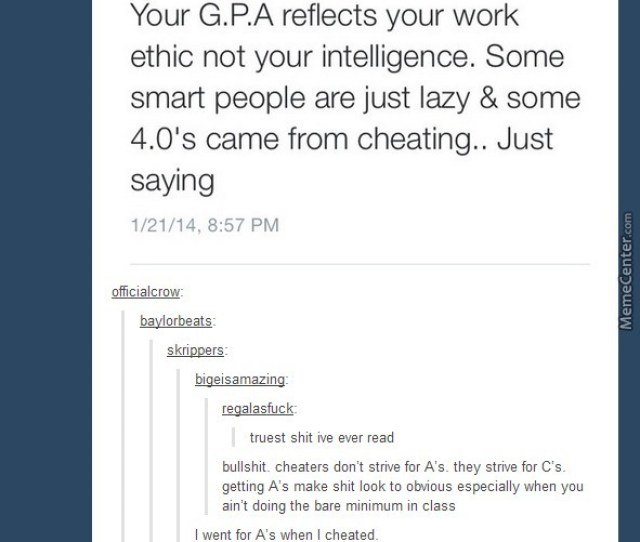 Tumblrs View On Cheating