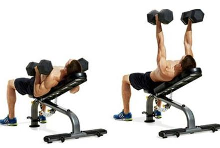 Hammer-grip dumbbell bench press