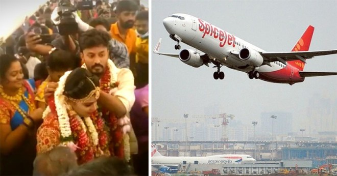 Madurai Couple Gets Married On Plane With 161 Guests