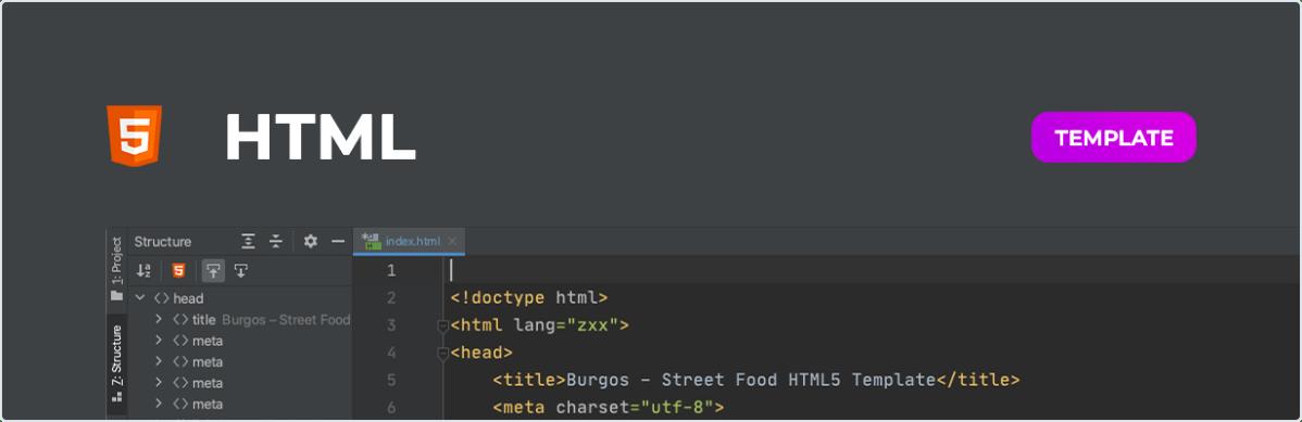 Burgos - Street Food HTML5 Template