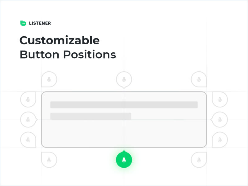 Customizable Button Positions