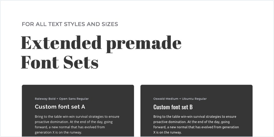 Expanded premade writing set