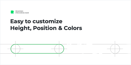 Easy to customize height, position and color