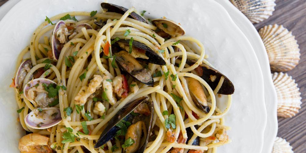spaghettis aux fruits de mer au cookeo