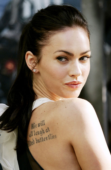 Megan Fox gets tattoos to deal with pain