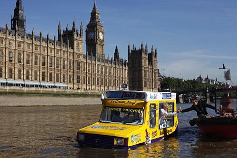 World's first amphibious Ice Cream Van, called the HMS Flake 99World's first amphibious Ice Cream Van, called the HMS Flake 99