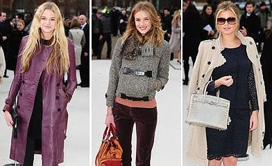 Pictures: Celebs at Burberry show