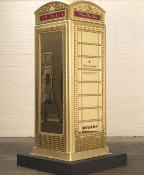 Ted Baker's design is called Ted's Ding A Bling Box Telephone box