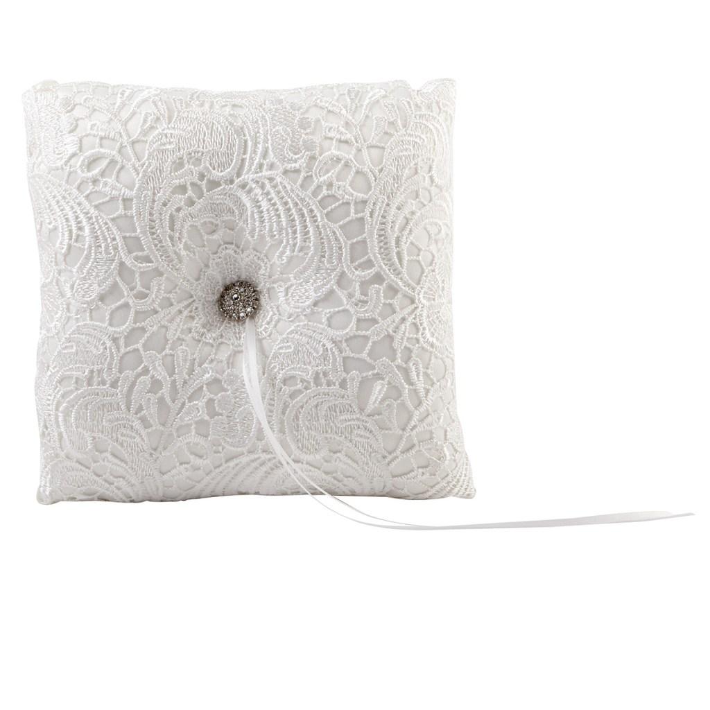 3 Piece White Or Ivory Wedding Ring Bearer Pillow Flower Girl