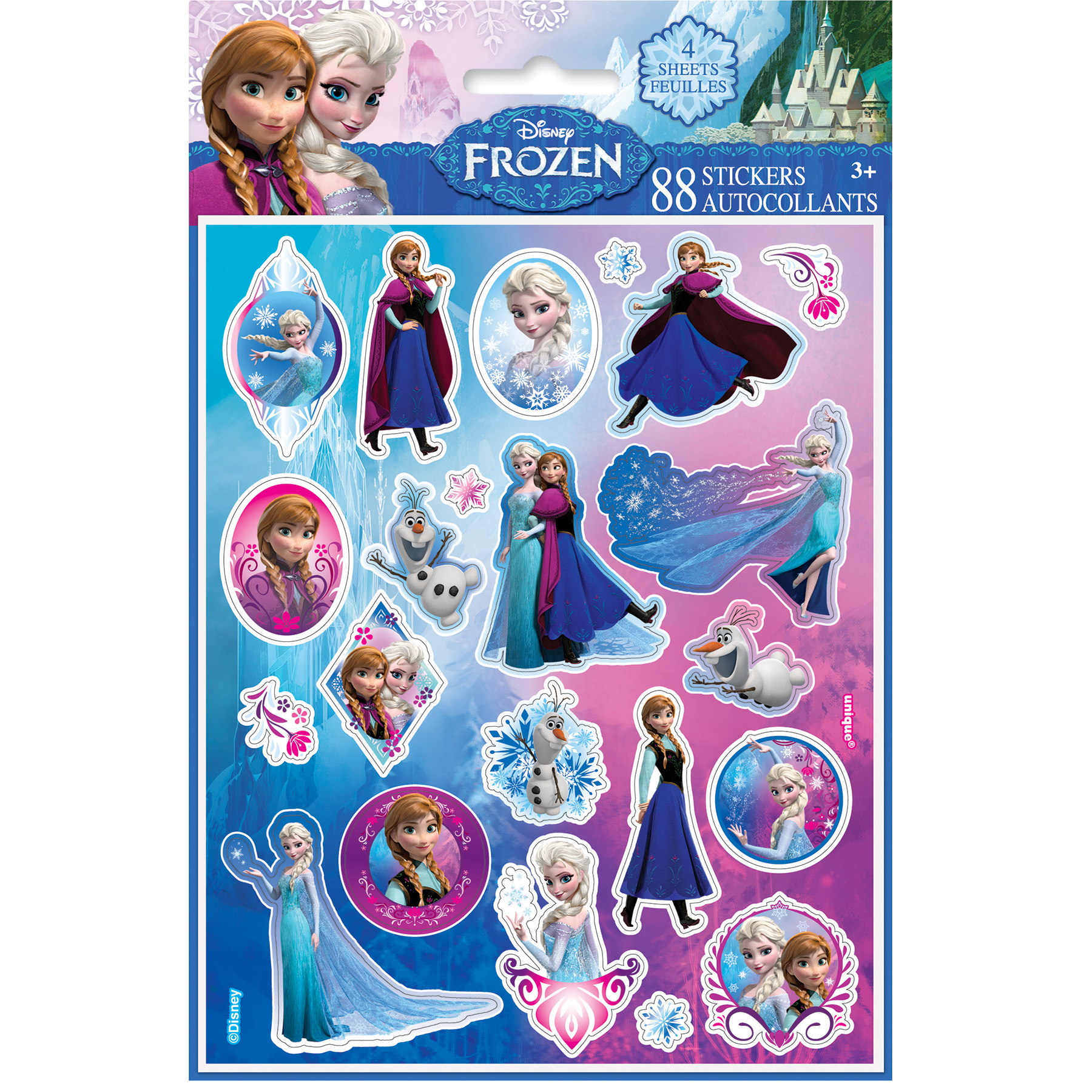 Disney Frozen Party Favor Sticker Sheets