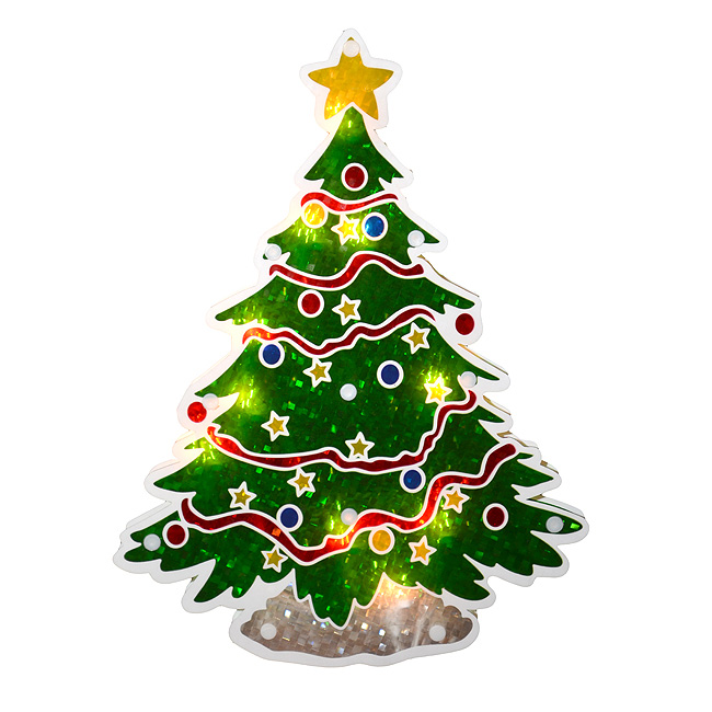 125 Lighted Double Sided Holographic Christmas Tree