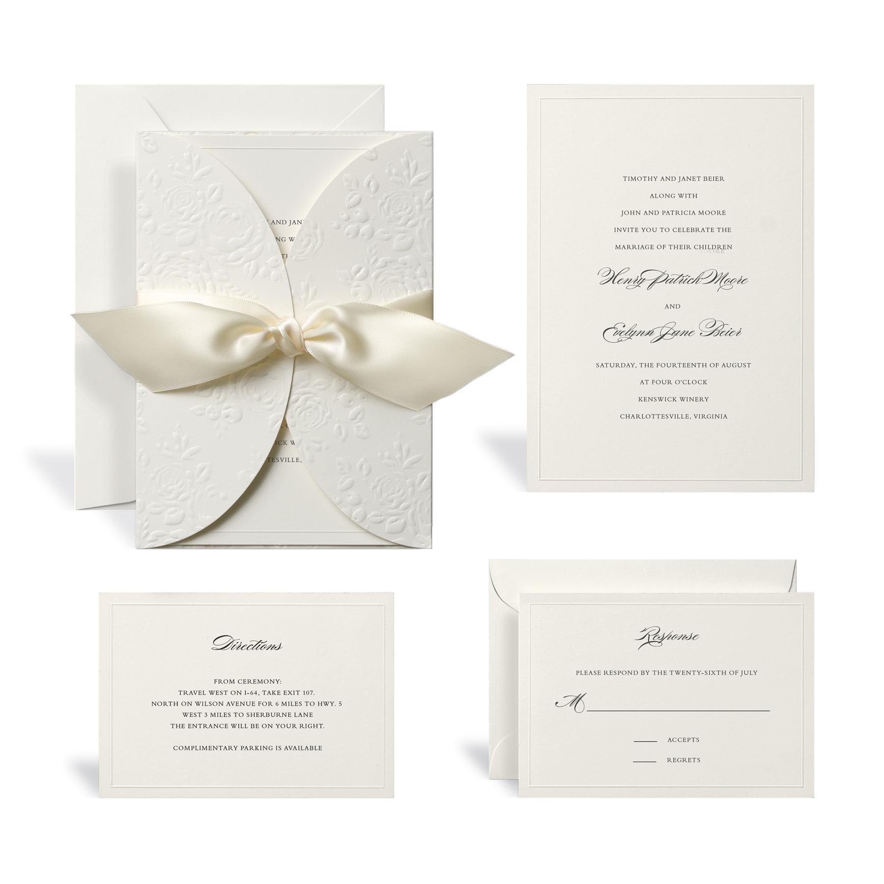 Printable Wedding Invitation Kits