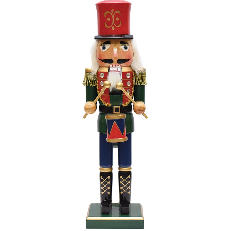 14 Wooden Christmas Nutcracker Drummer