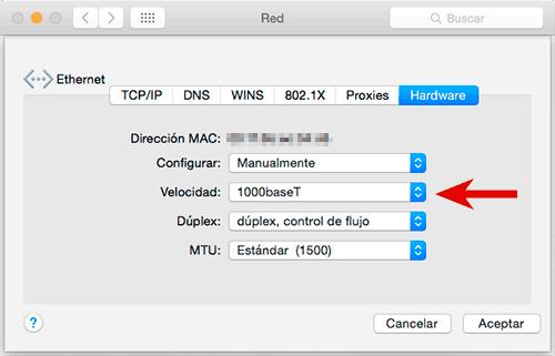 Configuración de la tarjeta de red en un Mac