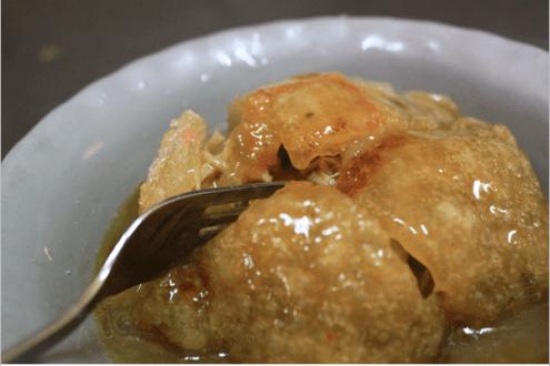 彰化》大排長龍必吃,超酥脆北門口干貝肉圓