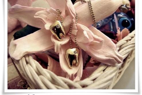 穿搭》超可愛牙齒姐妹鍊♥
