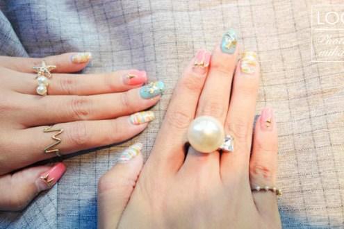東區晶漾十月小記錄:入秋來款像糖果一樣的輕甜彩色毛呢凝膠指甲