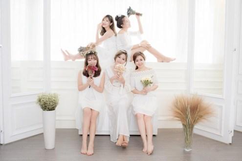 韓風姊妹寫真 #感覺攝影工作室 整形級妝容+自備衣服的閨蜜寫真精緻不貴好超值