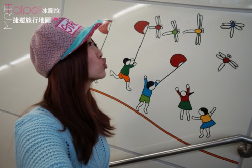 台北捷運旅行地圖 / 中和新蘆線 : 中山國小站 Zhongshan Elementary School