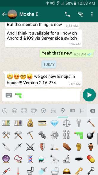 """Whatsapp""a yeni emojilər gəldi - FOTO"