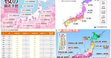 2019日本櫻花預測情報&日本櫻花何時開? 日本賞櫻季花開、滿開情報持續更新中!