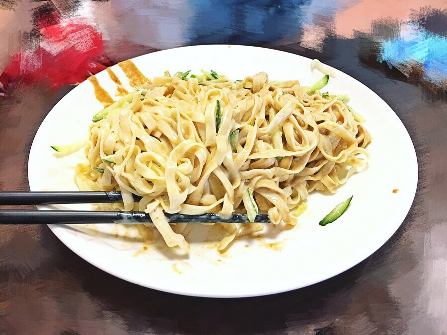 臺中西區美食 嘉義班長涼麵 向上北路美食 向上市場早餐 外送 - 夢想環遊日本