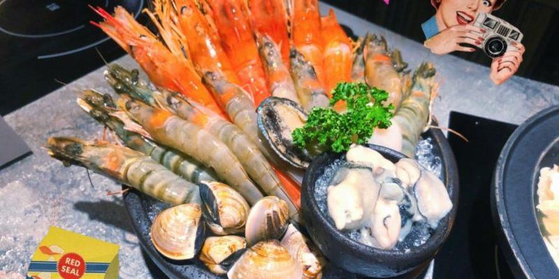 台中南屯美食 嗑肉石鍋 黎明總店 蝦到爆痛風鍋 龍蝦 海陸 和牛 食尚玩家推薦 排隊餐廳 外帶火鍋